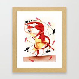 Valentine Dance Macabre Tango Framed Art Print