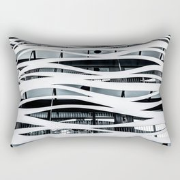 Modern Architecture Print, Minimal Building Poster, Toyo Ito Barcelona, Architecture Detail Wall Art Print, Wavy Lines, Home Decor, Futuristic Architecture Poster Rectangular Pillow