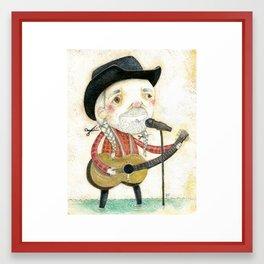 Willie Nelson Portrait Framed Art Print