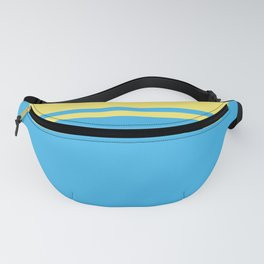 Solid&Solid: Yellow + Blue Fanny Pack