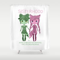 sisters Shower Curtains featuring Sisters by Yun Hee