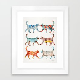 Cat Collection: Watercolor Framed Art Print