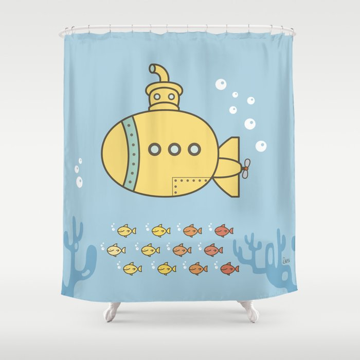 Yellow Submarine Shower Curtain