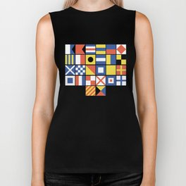 Nautical Flags Biker Tank