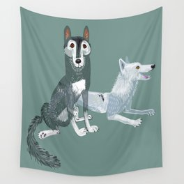 Totem Canadian wolf 1 Wall Tapestry