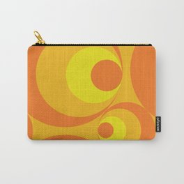 Crazy Orange Circles Carry-All Pouch