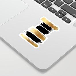 Brush Strokes (Black/Gold) Sticker