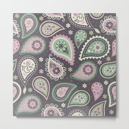 Soft romatic paisleys Metal Print