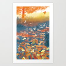 The Autumn's Melody Art Print