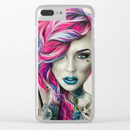 'Inked Neon' Clear iPhone Case