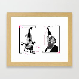 Wine Couple (Centaur & Grizzle) Framed Art Print