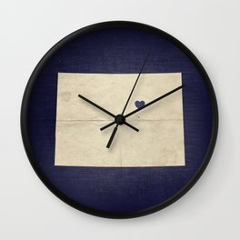 Denver, Colorado Map Love Wall Clock
