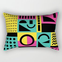 Neo Memphis Pattern 2 - Abstract Geometric / 80s-90s Retro Rectangular Pillow