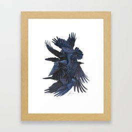 A conspiracy of ravens Framed Art Print