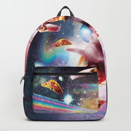 Outer Space Pizza Cat - Rainbow Laser, Taco, Burrito Backpack