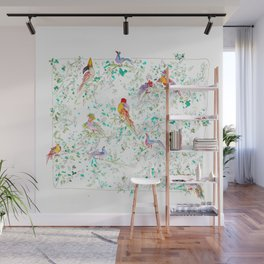 Jungle Bird Party Wall Mural