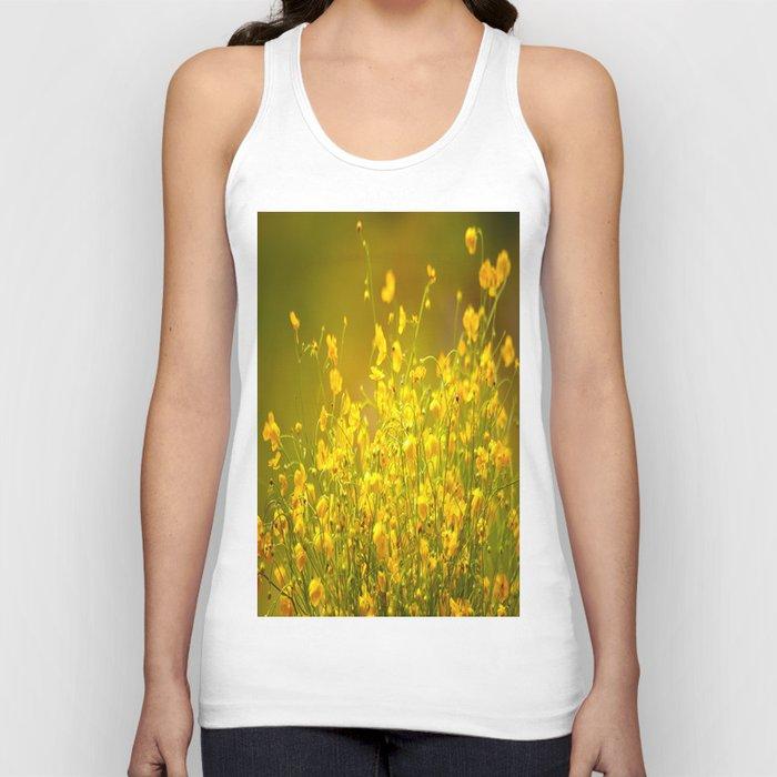 Yellow Mellow Flowers #decor #society6 Unisex Tank Top
