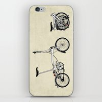 brompton iPhone & iPod Skins featuring Brompton Bicycle by Wyatt Design