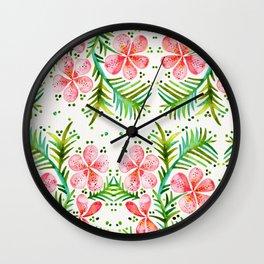 Orchid Bunch – Peach Palette Wall Clock