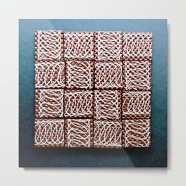 Chocolate Wafer Mosaic Metal Print