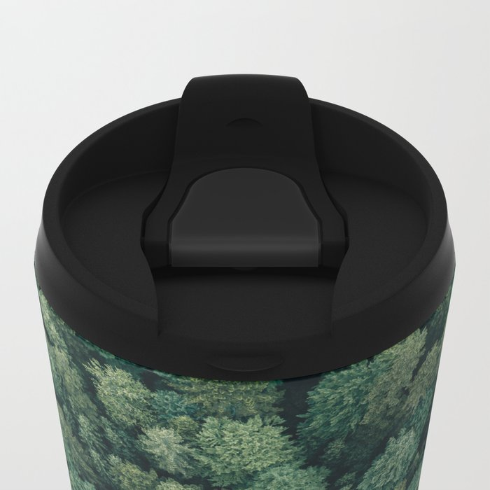 Hidden Lake in a Forest - Landscape Photography Metal Travel Mug
