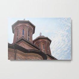 Roumania, Kretzulescu Church, Bucarest Metal Print
