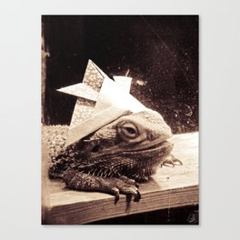 Paper Samurai, Bearded Dragon, Lizard Canvas Print