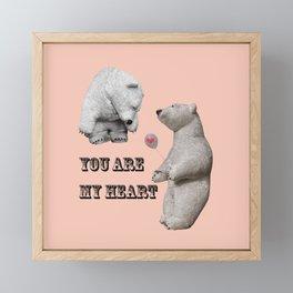 Declaration of love Framed Mini Art Print