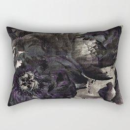 goth peony Rectangular Pillow