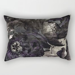 goth peony Rectangular Pillow