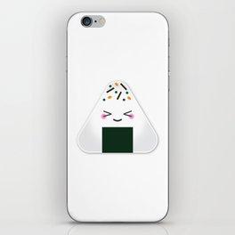 Happy onigiri iPhone Skin