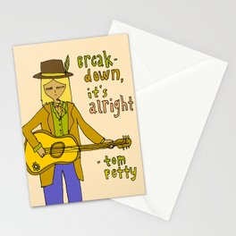 tom petty tribute // forever love your rock and roll soul Stationery Cards