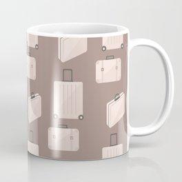 Travel pattern with bags Coffee Mug
