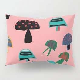 Cute Mushroom Pink Pillow Sham