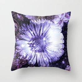Floral Blessings In The Garden Of Faith Throw Pillow