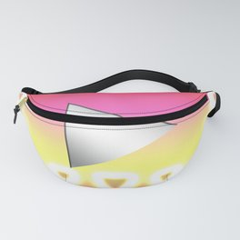 Video play button with cute pink color! The sparkling heart symbol is beautiful. Fanny Pack
