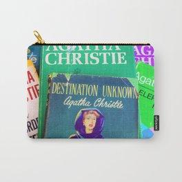Destination Unknown - Vintage Agatha Christie Carry-All Pouch
