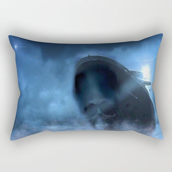 Ghost Ship Guided by Star Rectangular Pillow