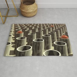Stockyard of Cylinders Rug