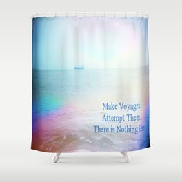 Make Voyages Shower Curtain