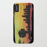 dodgers iPhone & iPod Cases featuring Sunset Blvd. by Nicko-Suave