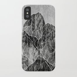 The Lone peaks of the moon iPhone Case