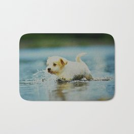 Splish - Splash, puddles are fun Bath Mat