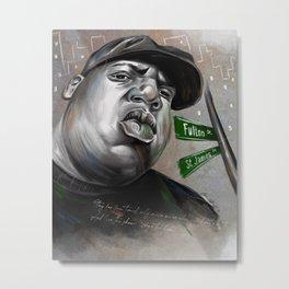 Biggie Fulton Street Metal Print