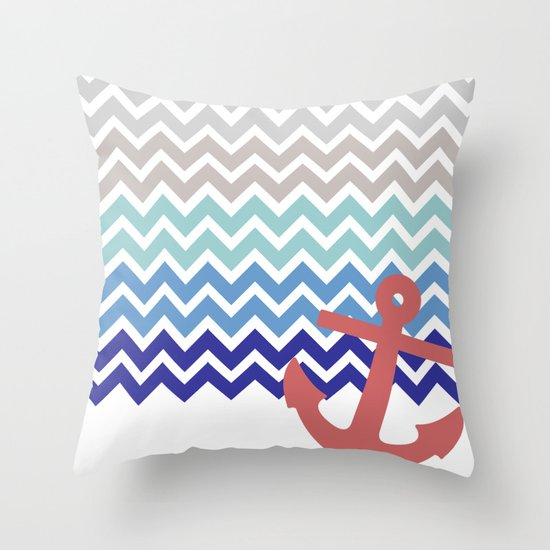 Kohls Nautical Throw Pillows : Nautical Throw Pillow by Emain Society6