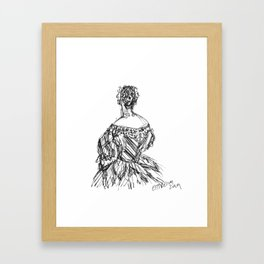 The Striped Gown Framed Art Print