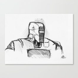 Warbot Sketch #014 Canvas Print