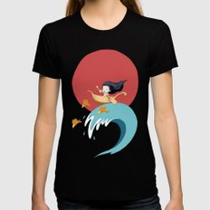 The Wave MEDIUM Womens Fitted Tee Black