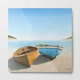 Two Boats on the Beach Metal Print