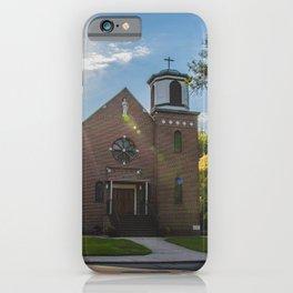 Holy Trinity Catholic Church, Fingal, North Dakota 3 iPhone Case